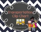 """Chevron Transportation Clip Chart --""""How do we get home?"""""""