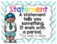 Chevron Types of Sentences Posters