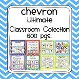 Chevron Ultimate Classroom Organization and Decor K-2 Bundled Collection