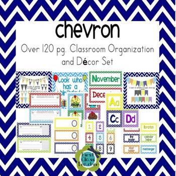Chevron Ultimate Classroom Organization and Decor K-2 Bundled Collection