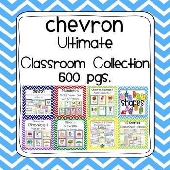 Chevron Ultimate Classroom Organization and Decor K-2 Bund