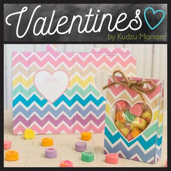Chevron Valentine Goodie Bag