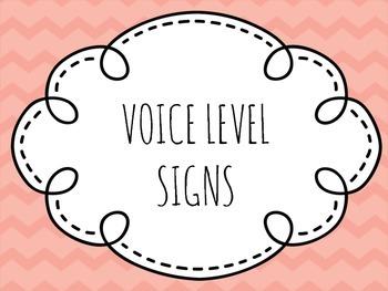 Chevron Voice Level Signs