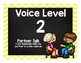 Chevron Voice Level and Volume Chart Display Poster