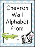 Chevron Wall Alphabet