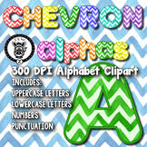 Chevron Watercolor Alpha Clip Art