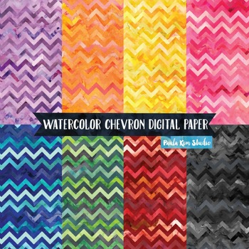 Chevron Watercolor Backgrounds