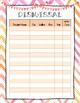 Chevron Watercolor Meet the Teacher Forms & Signs Complete Packet