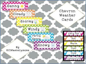 Chevron Weather Cards