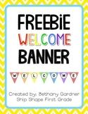 Chevron Welcome Banner {Freebie!}