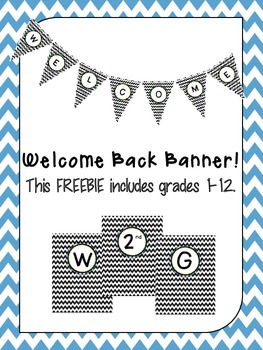 Chevron Welcome Banner (Grades 1-12)