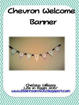 Chevron Welcome Banner Pennant