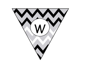 Chevron Welcome Banner and Classroom Labels