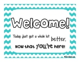 Chevron Welcome FREEBIE