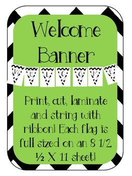 Chevron Welcome Flag Banner Bunting