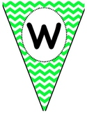Chevron Welcome Pennant Banner