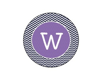 Chevron Welcome Sign (Black and Purple)