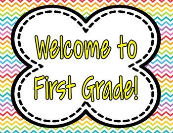 Chevron Welcome Signs **Pre-K-5th Grade