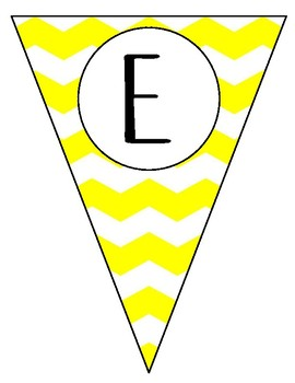 Chevron Welcome Triangle Banner