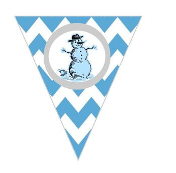 Chevron Winter Fun Banner