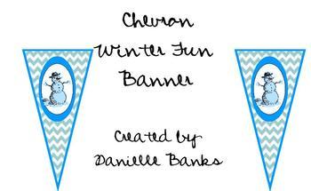 Chevron Winter Fun Banner