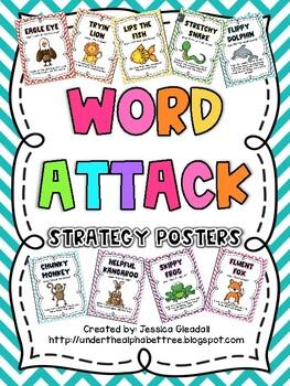 Chevron Word Attack Posters