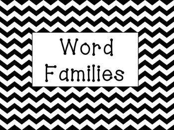 Chevron Word Families