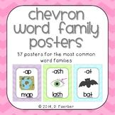 Chevron Word Family Posters