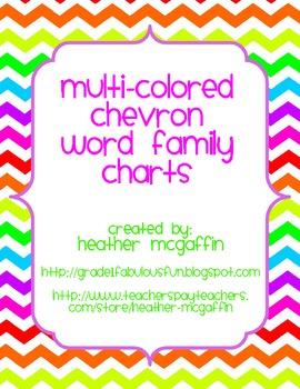 Chevron Word Family Wall Charts