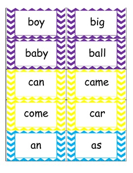 Chevron Word Wall