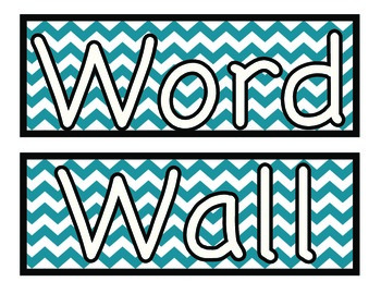 Chevron Word Wall