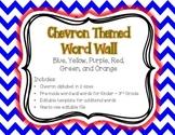 Chevron Word Wall {Editable Word Card Template} K-3