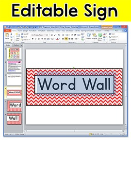 Chevron Theme Word Wall