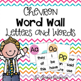 Chevron Word Wall Alphabet and Words