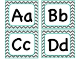 Chevron Word Wall Alphabet