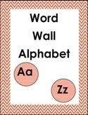 Chevron Word Wall Alphabet