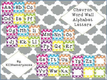 Chevron Word Wall Alphabet Letters