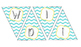 Chevron Word Wall Banner with Alphabet