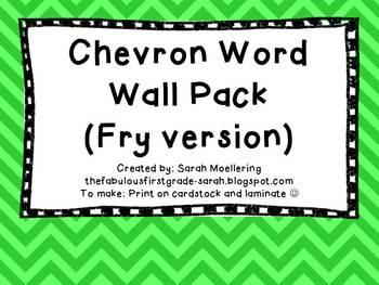 Chevron Word Wall Bundle (Fry version)