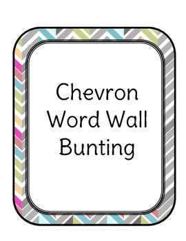 Chevron Word Wall Bunting