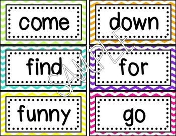 Word Wall Cards -Editable! {Bright Chevron}