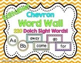 Word Wall Cards -Editable! {Bright Chevron}
