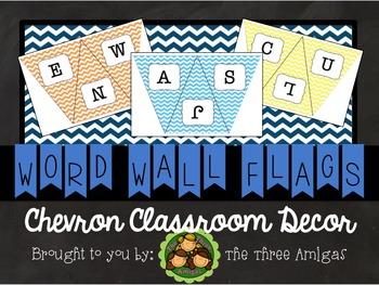 Chevron Word Wall Flags