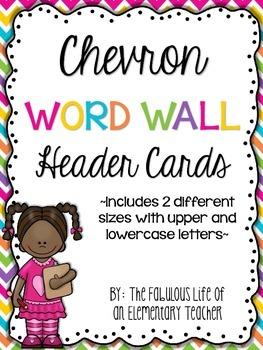 Chevron WORD WALL Header Cards