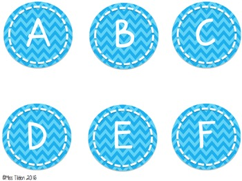 Chevron Word Wall Headers and Alphabet Labels