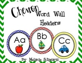 Chevron Word Wall Headers with pictures
