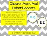 Chevron Word Wall Letter Headers