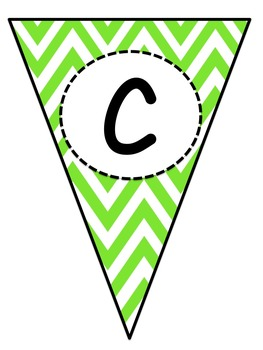 Chevron Word Wall Letter Pennants