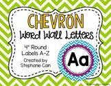 Chevron Word Wall Letters w/ Editable Banner