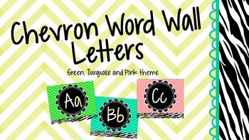 Chevron Word Wall Letters